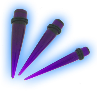 Set 3 Acrylic Purple Straight Expanders Kit