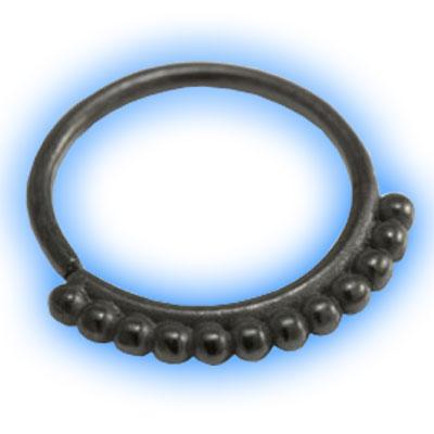 Black PVD Dotty Seamless Ring