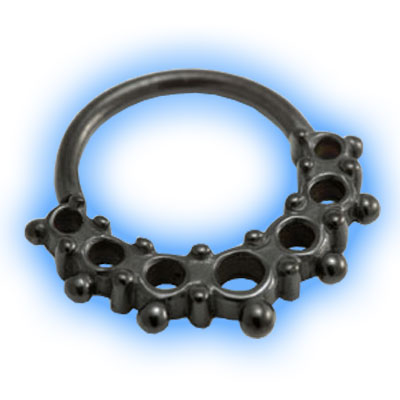 Black PVD Astro Seamless Ring