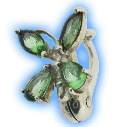Limited Edition Fake Belly Ring - Peridot Butterfly