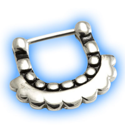 Unusual Dotty Hinged Septum Clicker