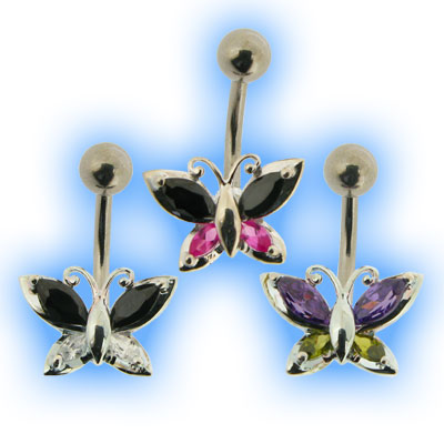 Elegance Belly Bar - Classic Butterfly