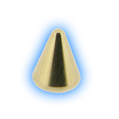Gold Plated Screw On Cone - 1.6mm (14g)