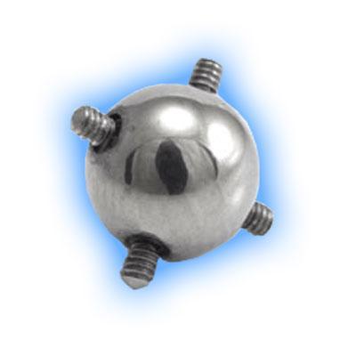 Internally Threaded Ball for Multiple Piercings - 1.6mm (14 gauge)