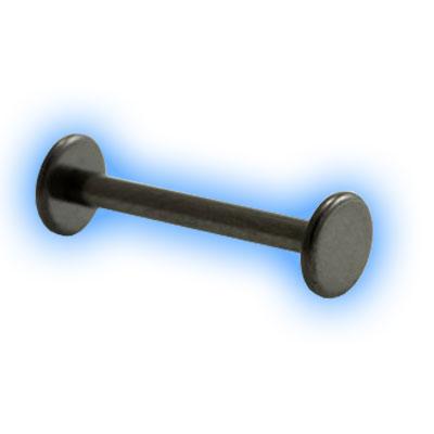 Black PVD Internally Threaded Disc Barbell - 1.6mm (14 Gauge)