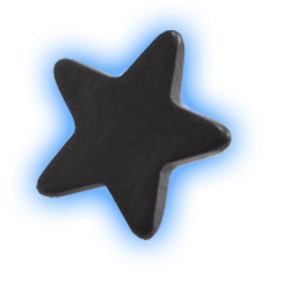 Black PVD Internally Threaded Star - 1.2mm (16 gauge)