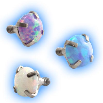 Internally Threaded Claw Opal - 1.6mm (14 gauge)