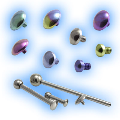 Titanium Internal Barbell with Ball and Disc - 1.2mm (16G)
