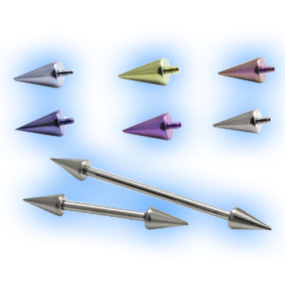Titanium Internal Barbell with Double Spikes - 1.6mm (14G)