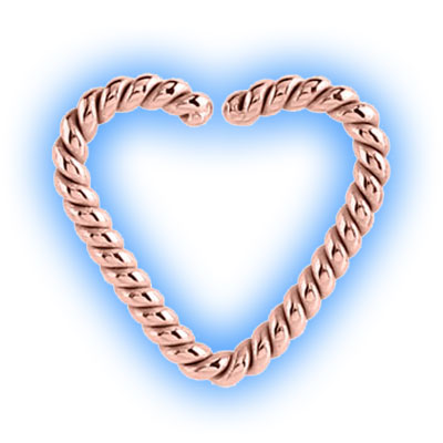Rose Gold Twisted Cast Steel Heart Ring