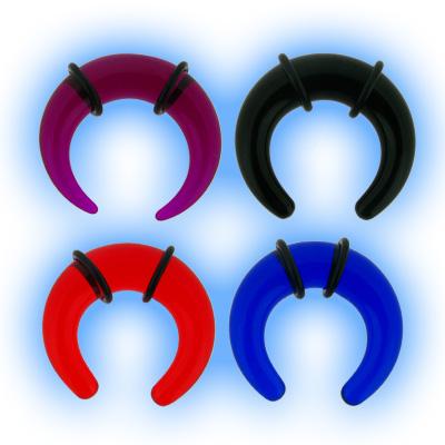 Acrylic Ear Stretching Taper - Buffalo Crescent