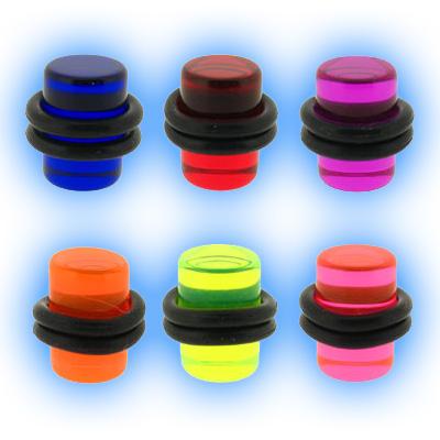 Coloured Acrylic Flesh Plug