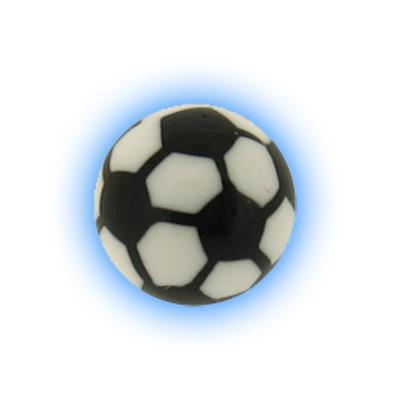 Spare Body Jewellery Ball - 1.6mm (14g) Acrylic Football