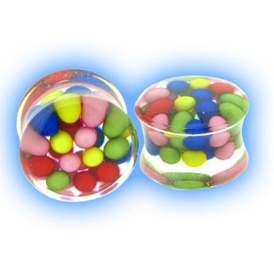 Clear Acrylic Bead Plug