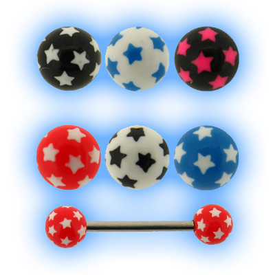 Barbell - 1.6mm (14g) Acrylic Stars