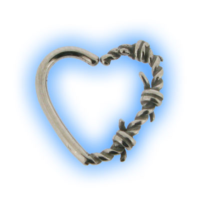 Barbed Wire Daith Heart