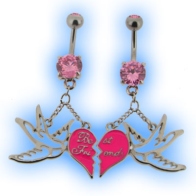 Best Friends Belly Bar Gift Set of 2 - Swallow and Heart
