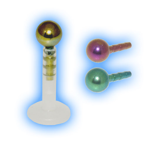 Bioflex Push Fit Labret - Titanium Ball
