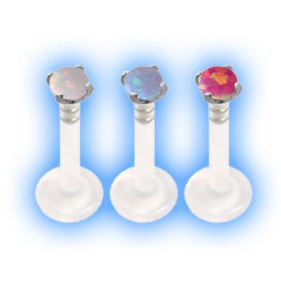 Bioflex Push Fit Labret - Opal Stone