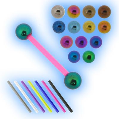 Bioplast Barbell - Titanium Balls - 1.6mm (14G)
