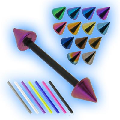 Bioplast Barbell - Titanium Cones - 1.6mm (14G)