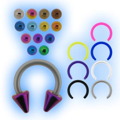 Bioplast 1.2mm (16G) Circular Barbell - Titanium Cones