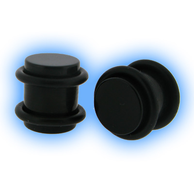 Black Acrylic Flesh Plug