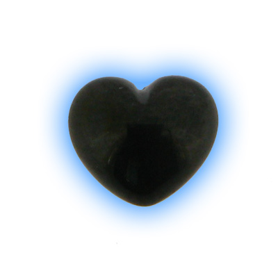 Black PVD Screw On Heart - 1.2mm (16g)