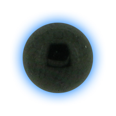 Black PVD Screw On Ball - 1.6mm (14g)