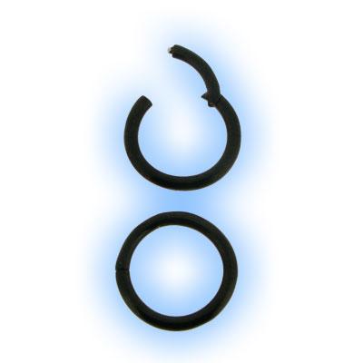 Black Steel Hinged Segment Ring - 0.8mm (20 gauge)