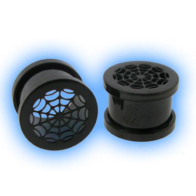 Blackline Steel Screw Ear Tunnel - Spiders Web