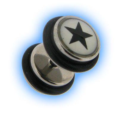 Black Star Design Fake Plain Ear Plug