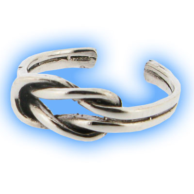 Silver Braid Toe Ring