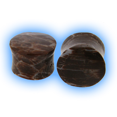 Natural Brown Coral Ear Plug