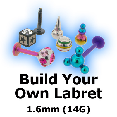 Build Your Own 1.6mm (14G) Labret Stud