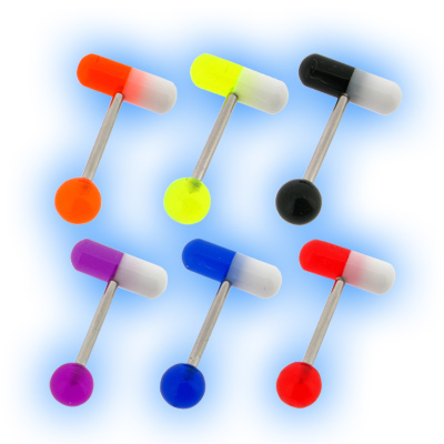 Acrylic Capsule Tablet Bullet Tongue Bar