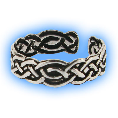 Silver Celtic Band Toe Ring