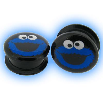 Acrylic Screw Plug Blue Monster