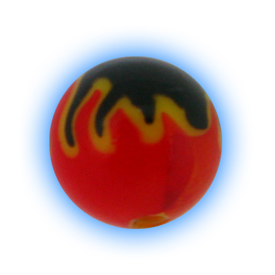 Acrylic Hell Fire Flame Ball - 1.6mm (14g)