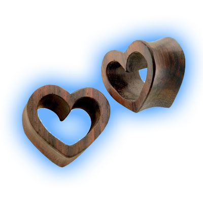 Pair of Heart Shaped Wooden Tunnels
