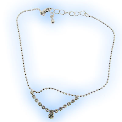 Diamonte Dropper Anklet