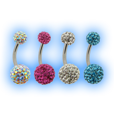 Jewelled Disco Ball Belly Bar