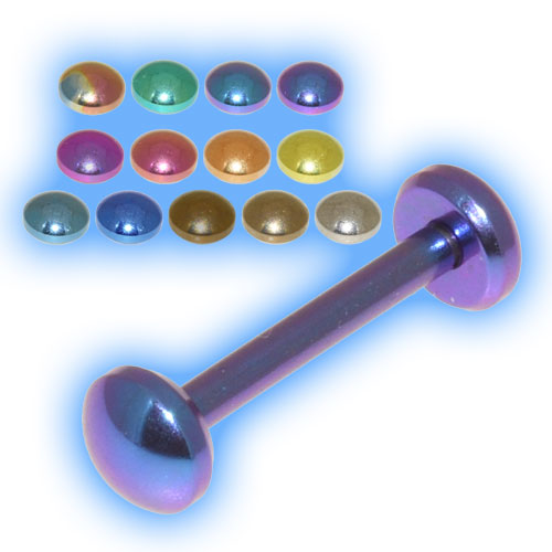 Domed Disc Titanium Tongue Bar Stud