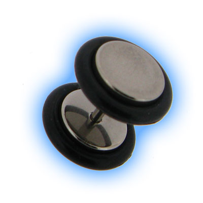 8mm Fake Plain Ear Stretching Plug