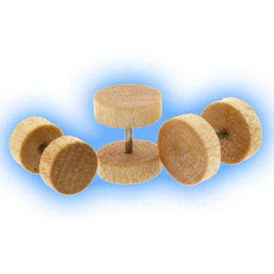 Fake Wood Ear Plug