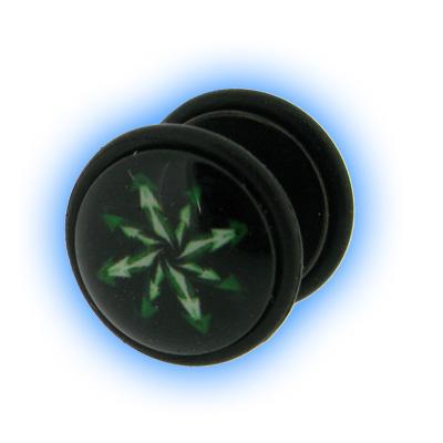 Fake Black PVD Ear Stretching Mirage Plug - Kaos