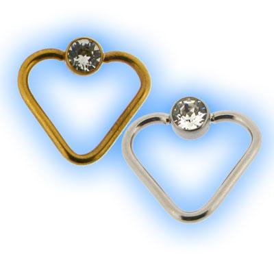 1.2mm Steel Flat Back Ball Jewelled Heart
