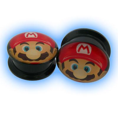Acrylic Screw Plug Mario