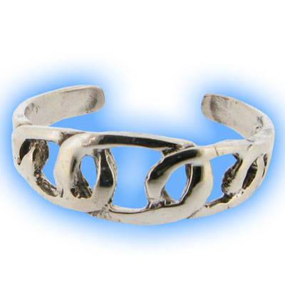 Silver Friendship Toe Ring