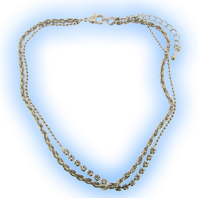 Gems & Rope Ankle Chain